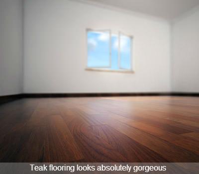 gorgeous teak flooring in bedroom