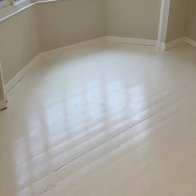 White colored paint for wooden floors
