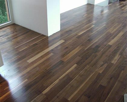 Designer walnut for lounge flooring