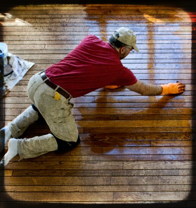 Hardwood floor refinish types